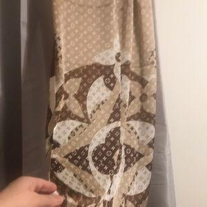 Louis Vuitton silk Scarf nice gift for Christmas
